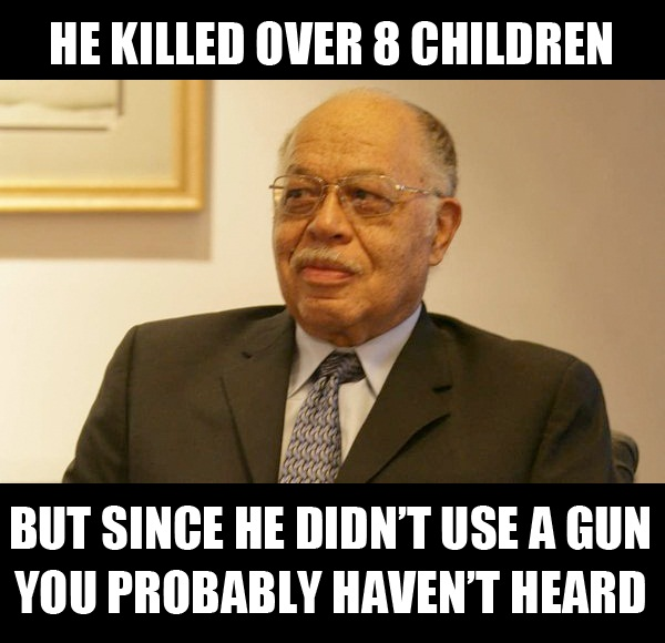 he killed over 8 children but since he didn't use a gun you probably haven't heard
