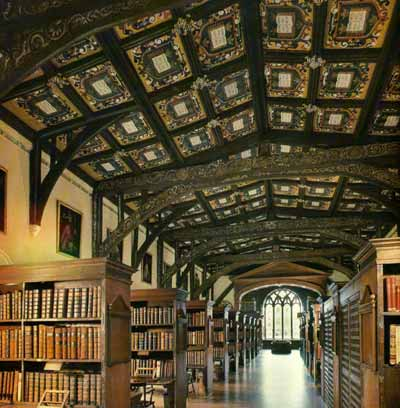 duke humfrey's library, bodleian library, oxford university, oxford, uk