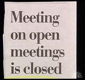 meeting on open meetings is closed
