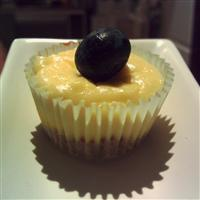 baked cheesecake cupcakes with blueberries