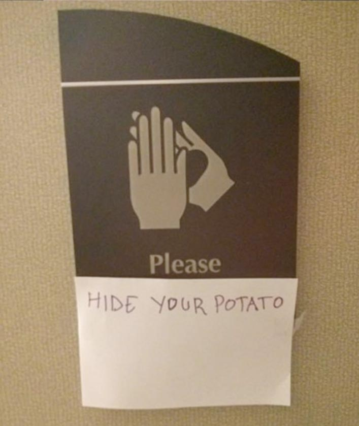 please hide your potato