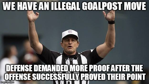 moving the goal-posts