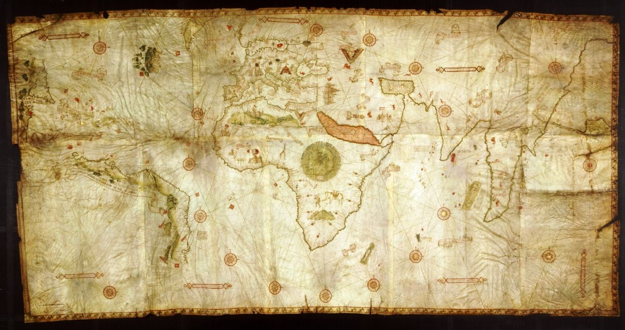 the caverio world map c. 1505