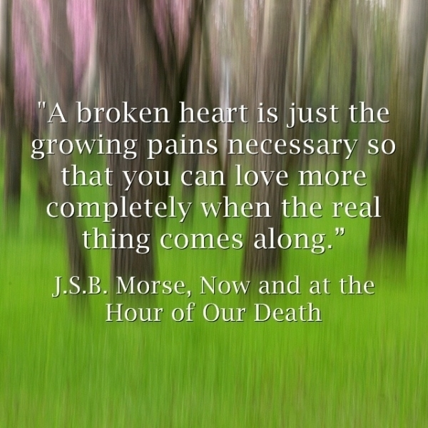 a broken heart is just the growing pains necessary so you can love more completely when the real thing comes along.