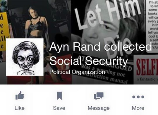 ayn took social security