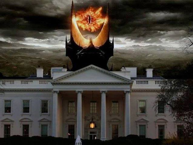sauron tower over white house