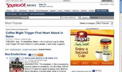 folgers heart attack