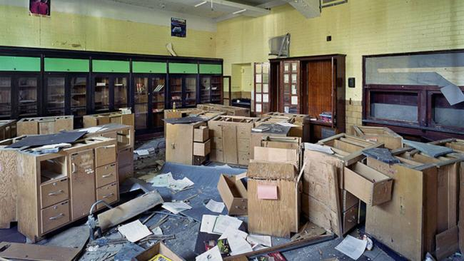 a former biology classroom at the wilbur wright high school in detroit