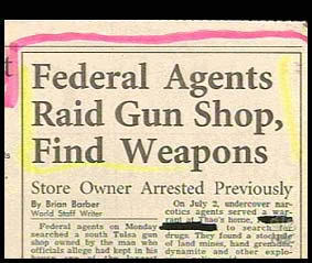 federal agents raid gun shop, find weapons