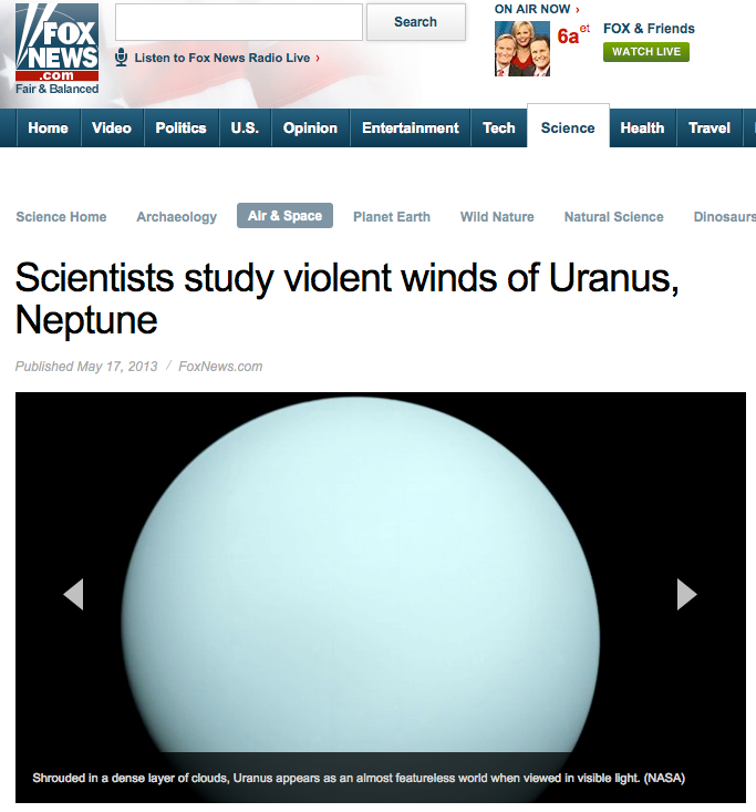 scientists study violent winds of uranus, neptune