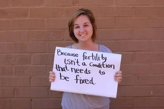 because fertility isn't a condition that needs to be fixed