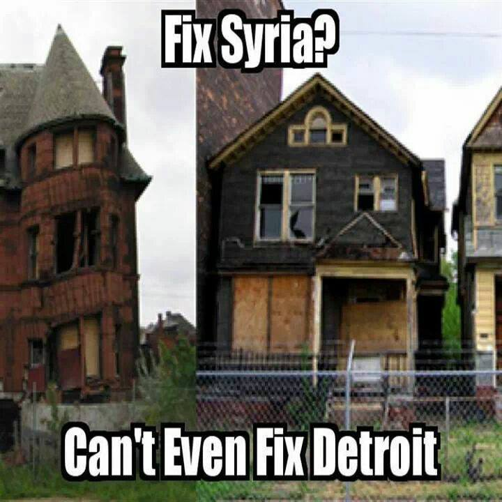 fix syria? can't even fix detroit