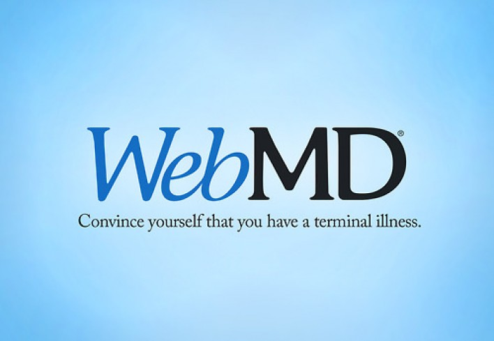 webmd - convince yourself that you have a terminal illness