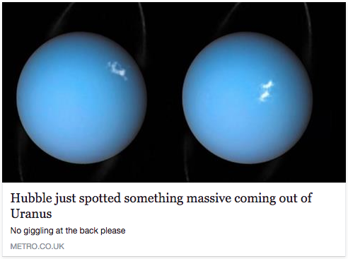 hubble just spotted something massive coming out of uranus