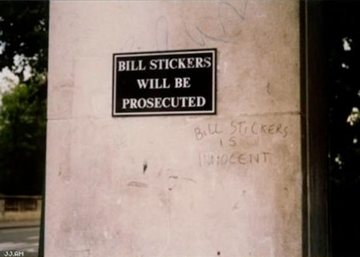 bill stickers is innocent