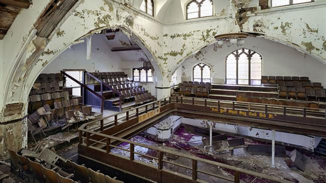 the abandoned east methodist church in detroit