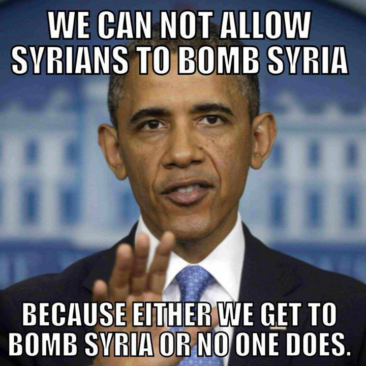 either we get to bomb syria or no one does