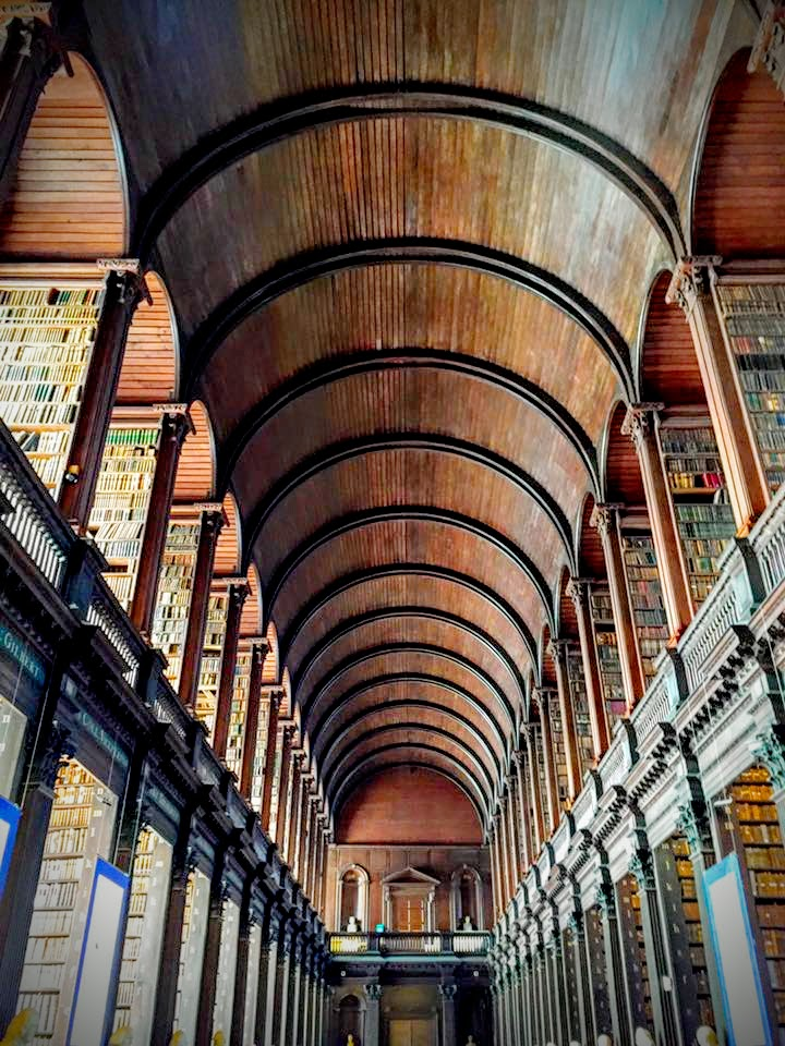 "the trinity college library, aka ""the long room,"" dublin, ireland"
